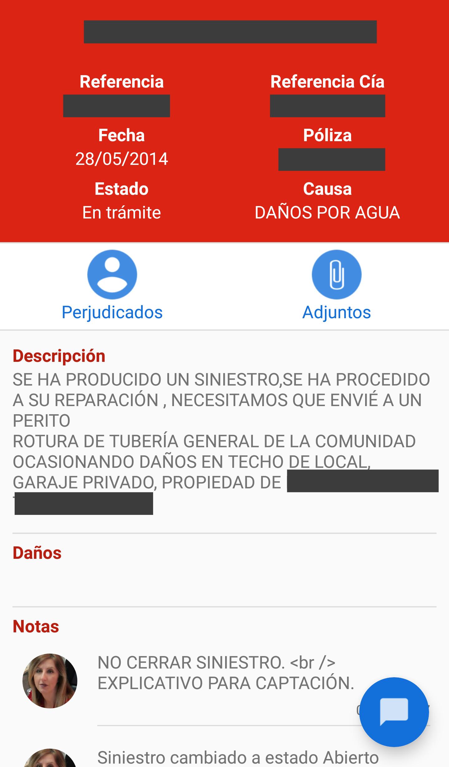 Aplicacion Brokalia Android Siniestros