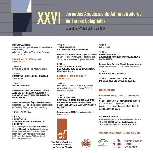 XXVI Jornadas Andaluzas de Administradores de Fincas