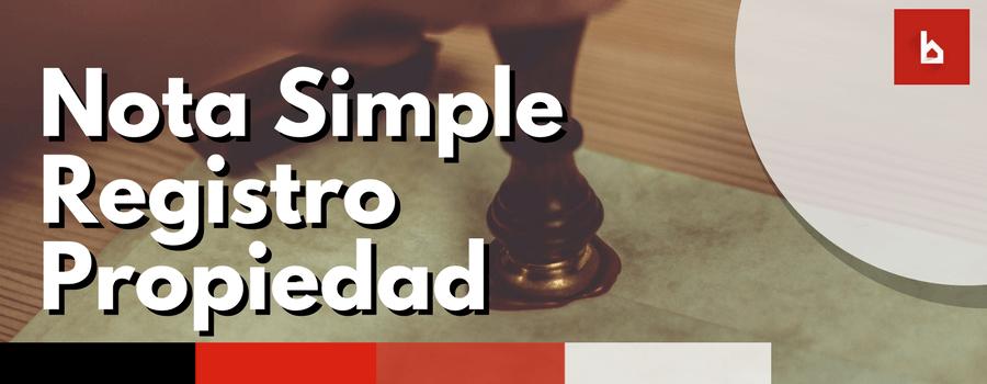 nota simple registro propiedad