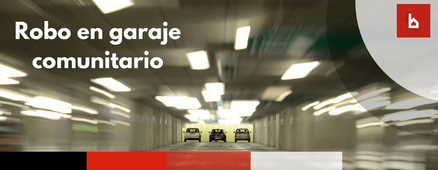 robo vehiculo en garaje comunitario
